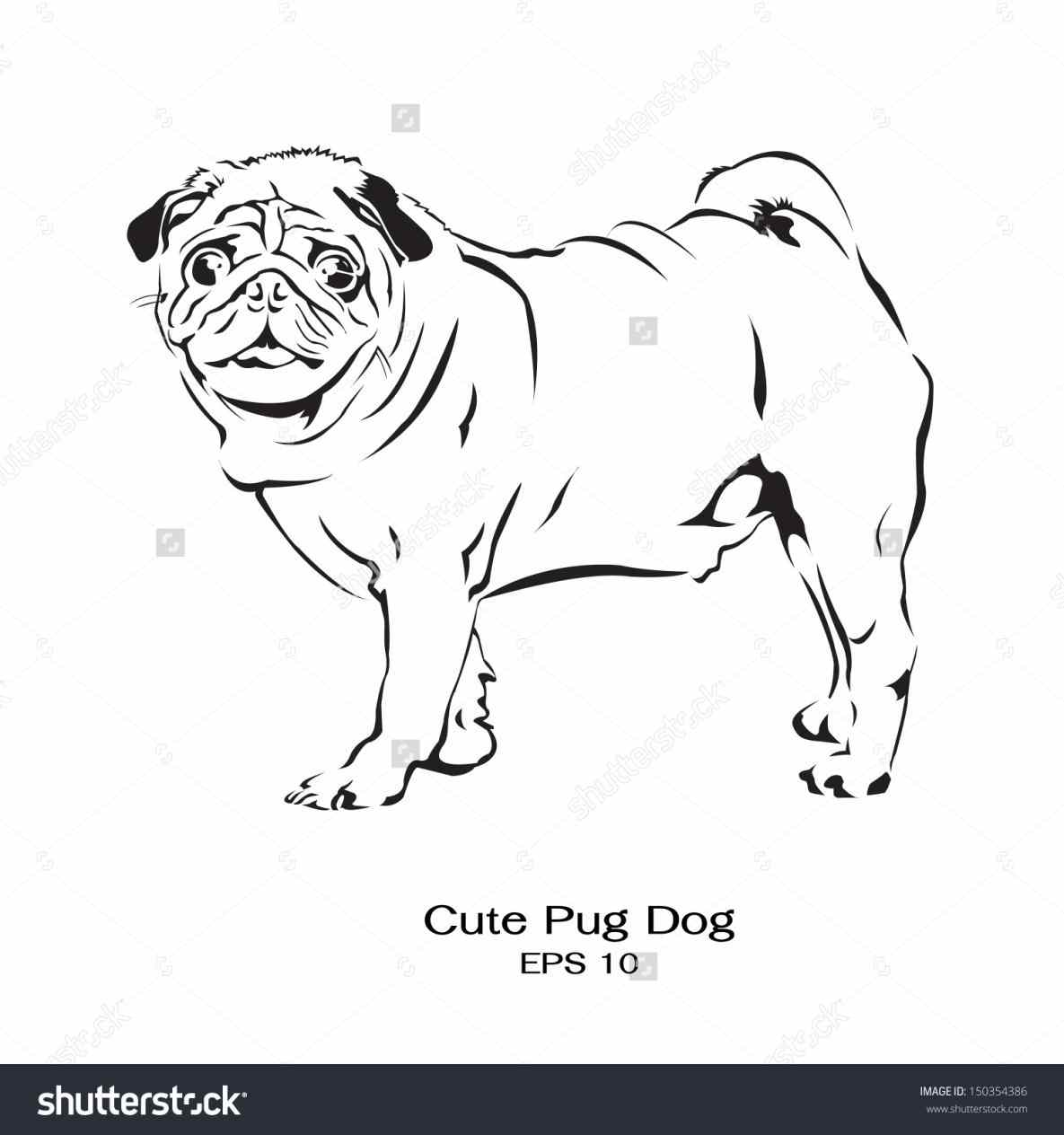 Drawn pug fabulous Pug Pug Standing  pages