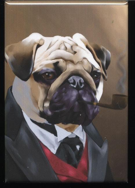 Drawn pug gentleman Gentleman dog Pug magnet Dog