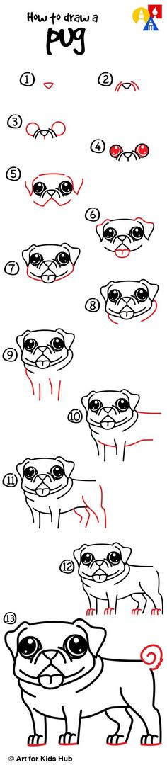 Drawn pug graffiti To Kids Pug Pinterest pugs