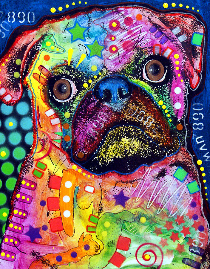 Drawn pug graffiti Pop Dogs Russo Puggie Dogs