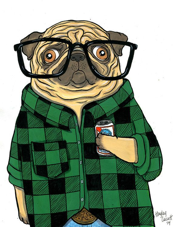 Drawn pug hipster Best Pug 600 Hipster all