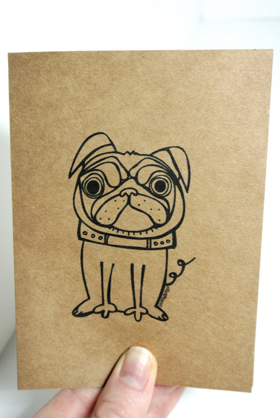 Drawn pug illustrated Inkpug OR Poem  Rock