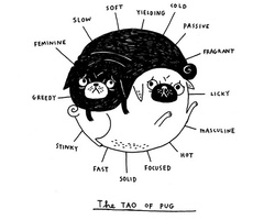 Drawn pug illustration tumblr L Garota Garota Pug l