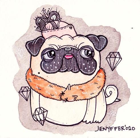 Drawn pug illustration tumblr Media com/tumblr_lcrlimiN031qzkdbno1_r1_500 http://30 tumblr media