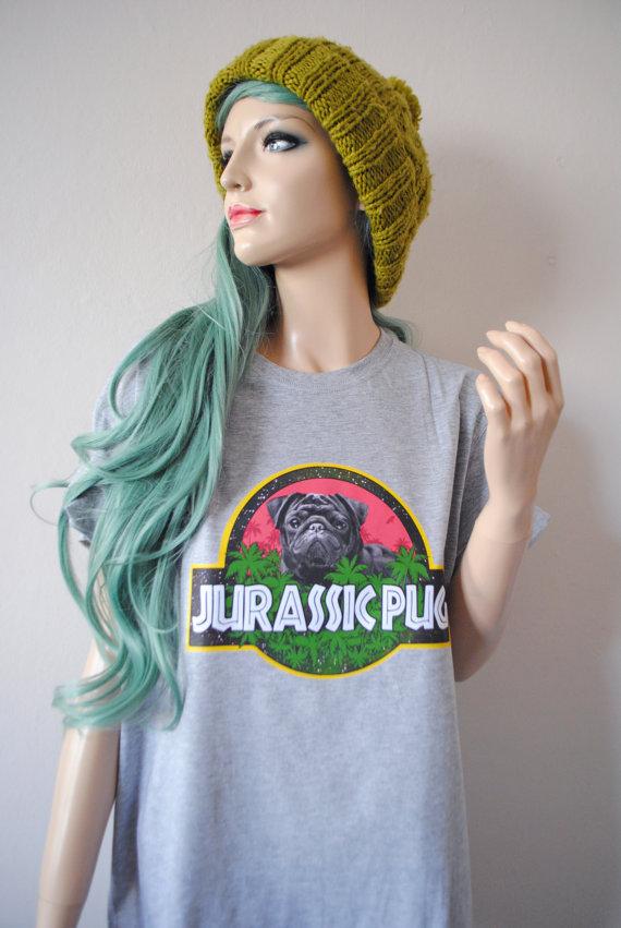 Drawn pug jurassic Shirt Pug Jurassic this Grey