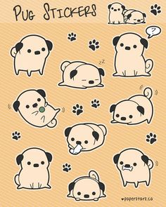 Drawn pug kawaii ADORABLE ified= Donuts before CANT