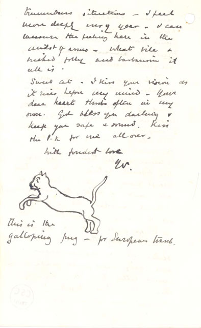 Drawn pug love note Great Churchill and  the