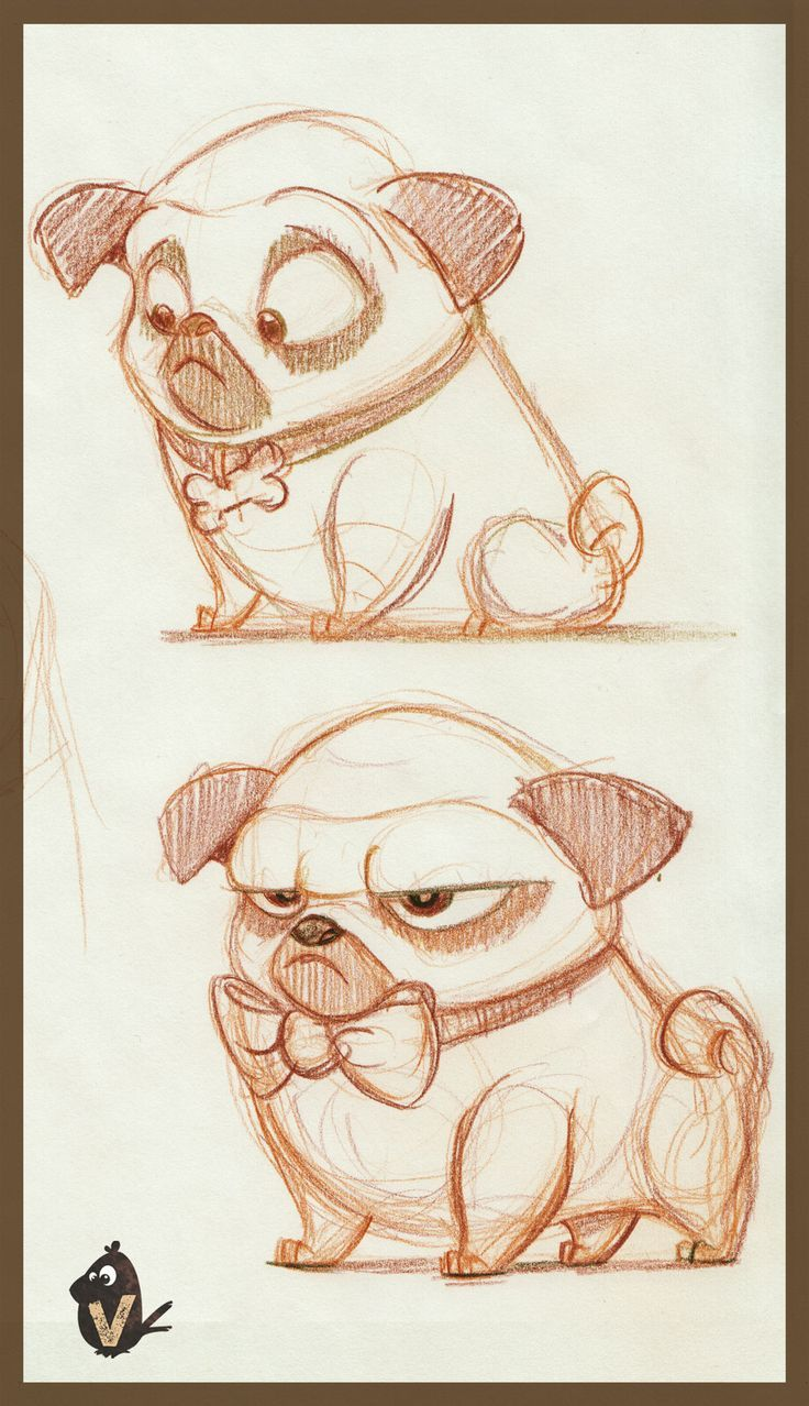 Drawn pug love note Pugs images Pinterest & more