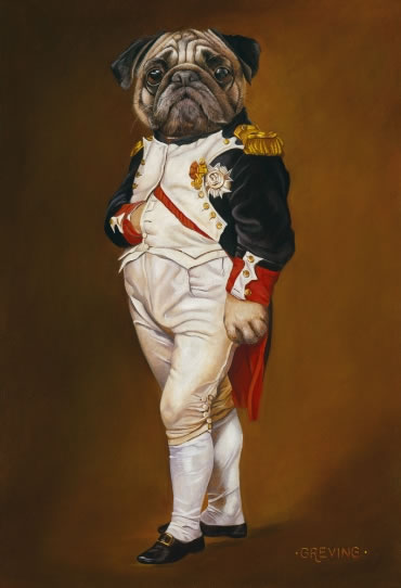 Drawn pug napoleon Of in Portrait of Jacques