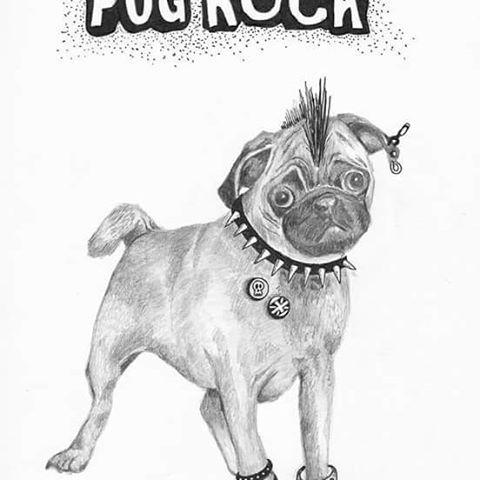 Drawn pug pen #art Squidoodle #Doodle and and