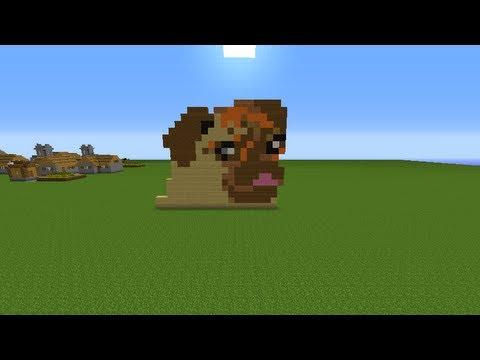 Drawn pug pixel art Speed Minecraft  Art YouTube