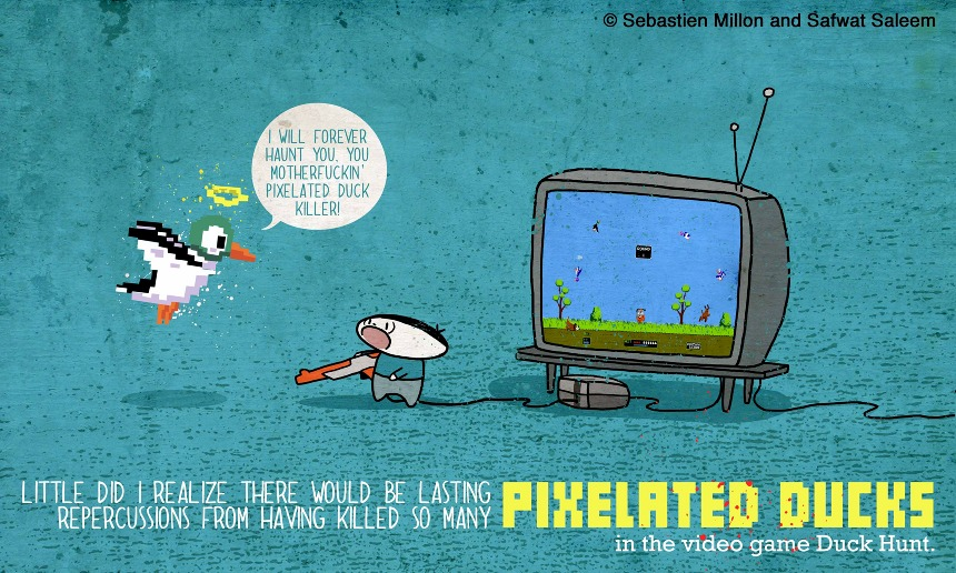 Drawn pug pixelated Pixelated  Killer Illustration &