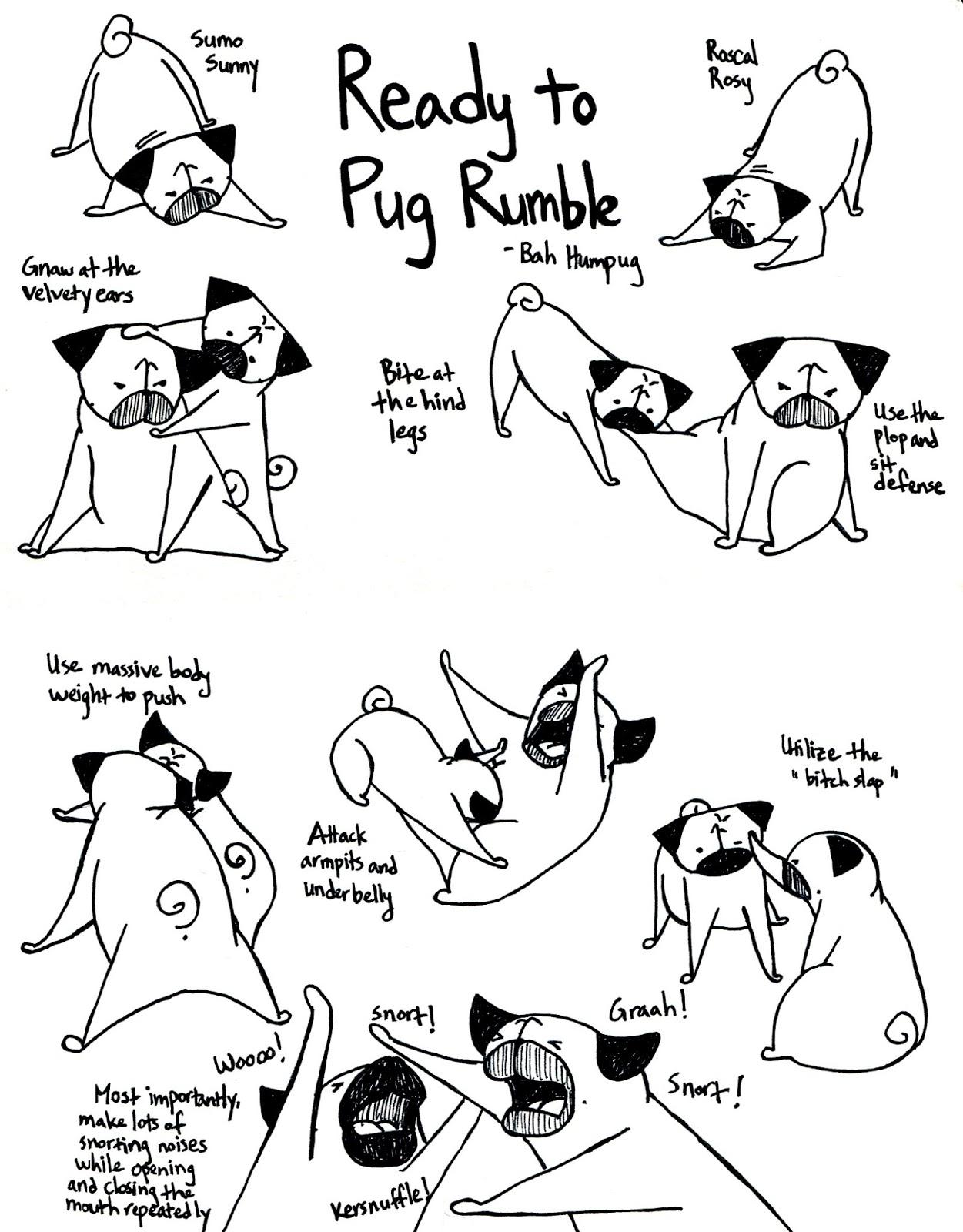 Drawn pug poo Ruuumbbble! Ready Pug Humpug: Let's