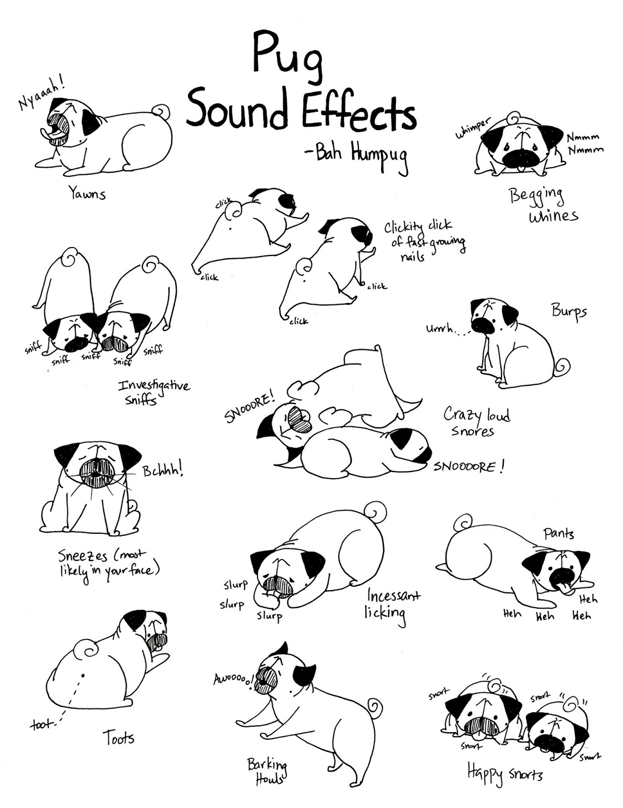 Drawn pug poo Are  II Effects for