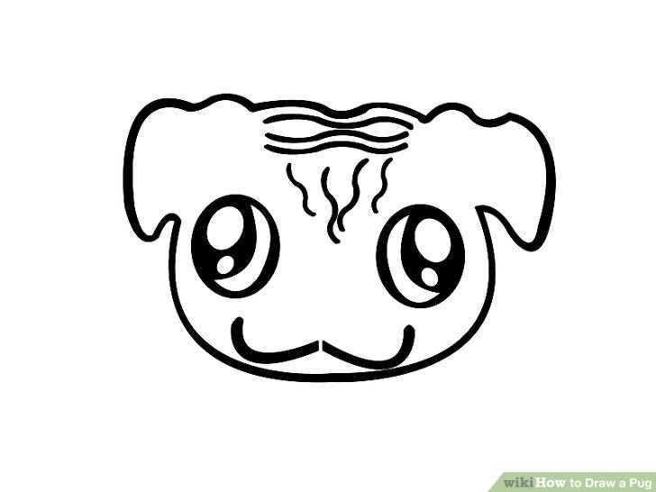 Drawn pug simple WikiHow Pug titled (with to
