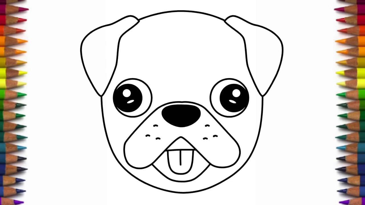 Drawn pug step by step Pug dog by and How