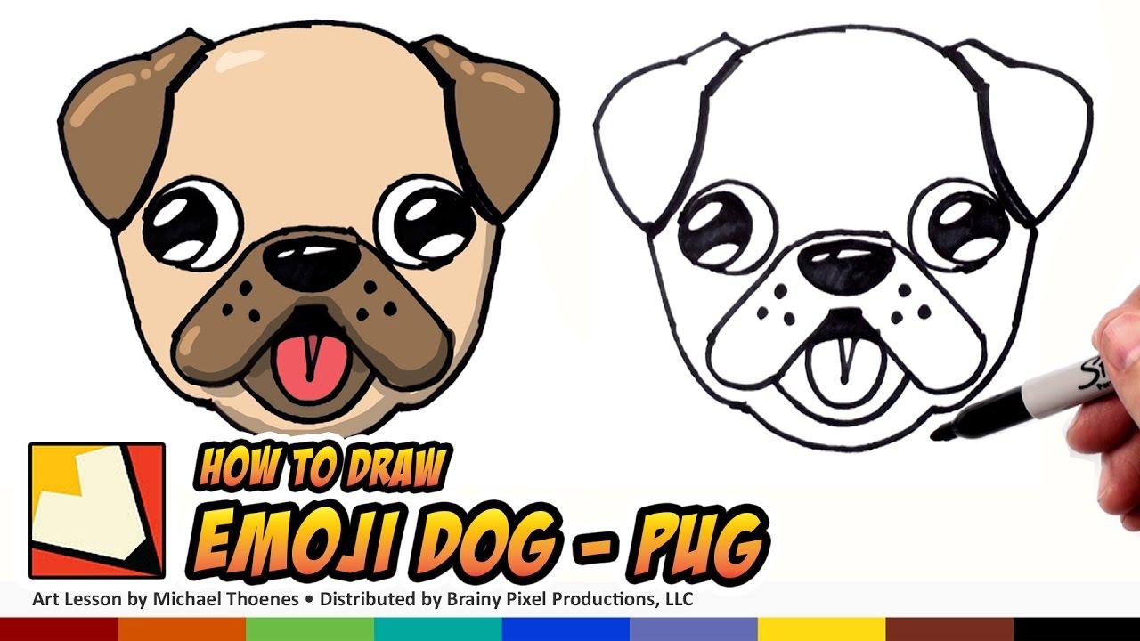 Drawn pug step by step Pug Dog Step Beginners How