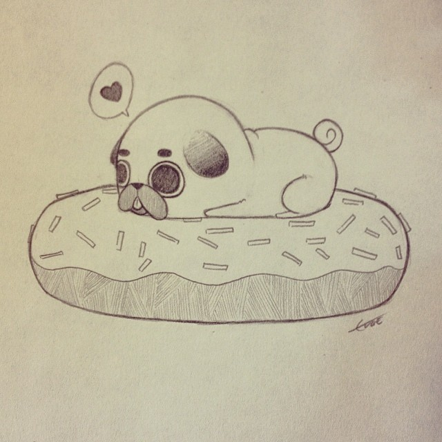 Drawn pug tiny Puglie all I'm Puglie all