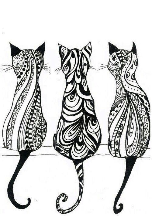 Drawn pug tribal 62 Tribal Cats art Tribal