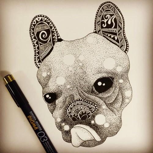 Drawn pug tribal ART #art#artstag#art4eyes#artbook#artists_community#artwork#art_digest# pug Shiki