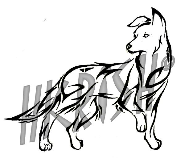 Drawn pug tribal By Dog Commission Tattoo Dog