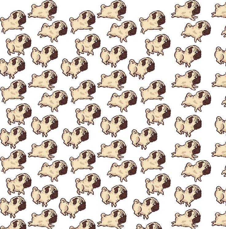 Drawn pug tumblr backgrounds Fondos tumblr Buscar Google con