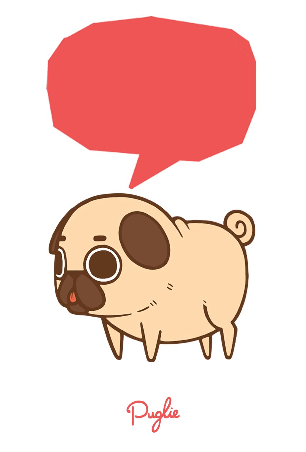 Drawn pug tumblr backgrounds ArtWallpapers on Gina Meerendonk van