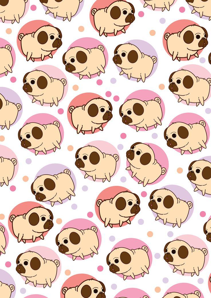 Drawn pug tumblr backgrounds Wallpaper phone pug de Buscar