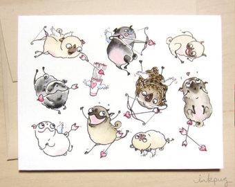 Drawn pug valentines day Pug Love is Air Friends