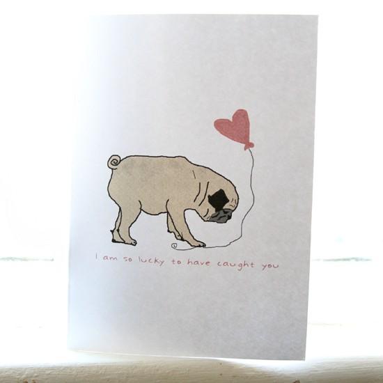 Drawn pug valentines day Card Pug In Pug Card