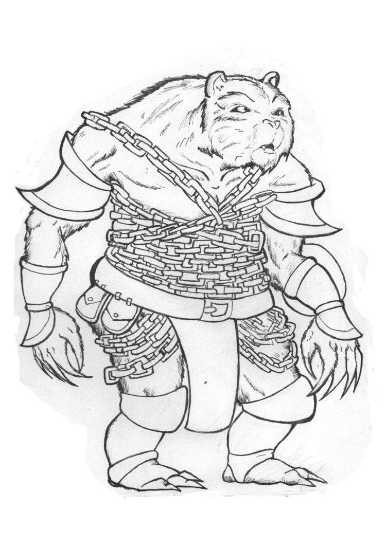 Drawn pug warrior Drawing Warrior Bear Bear warrior