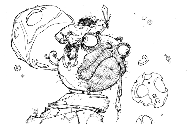 Drawn pug warrior SkottieYoung by ever riding the