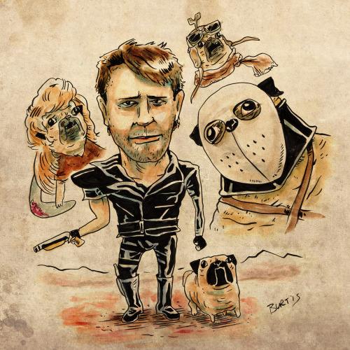 Drawn pug warrior Course reimagining Durand Burton With