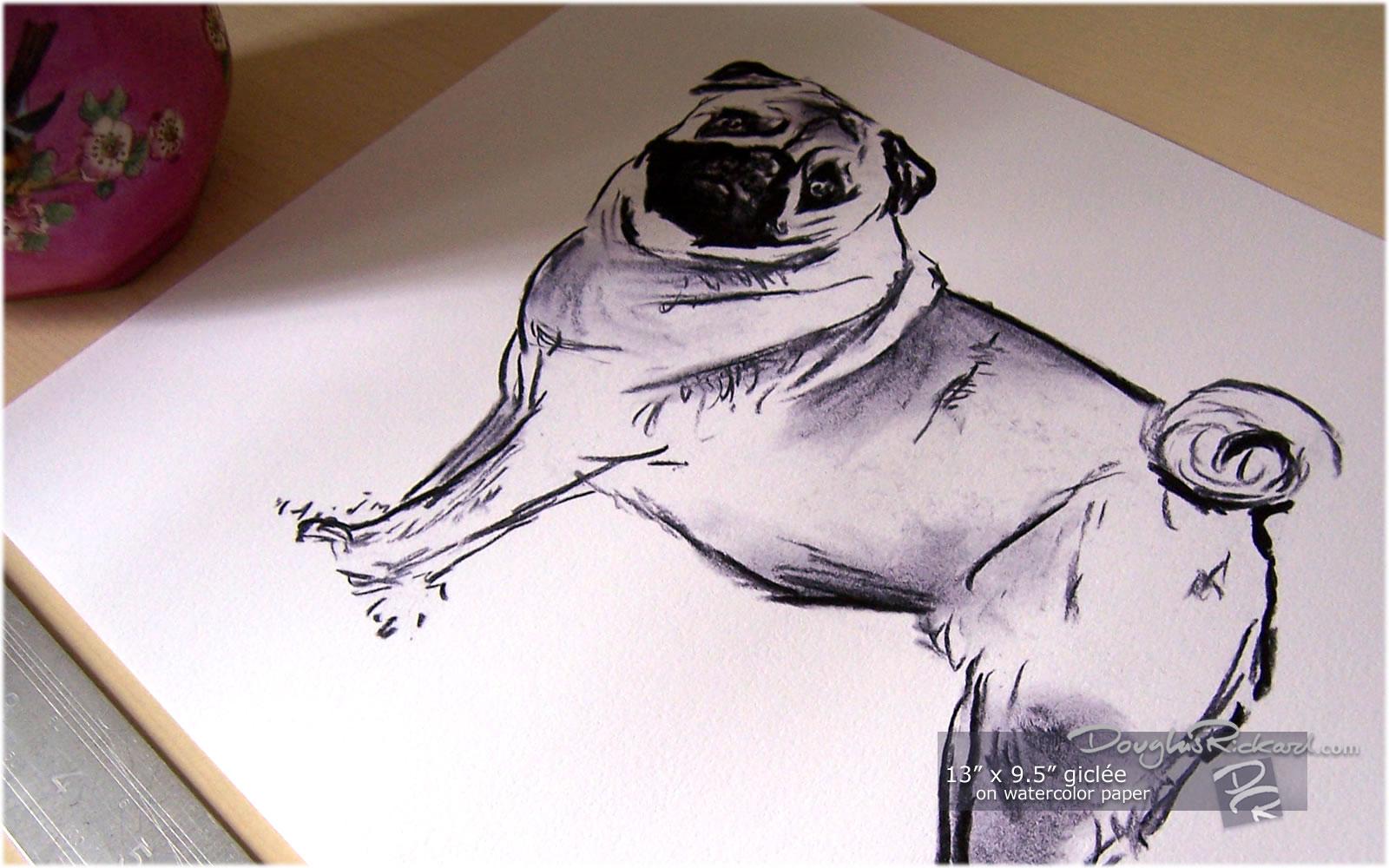 Drawn pug watercolor A Pug Buy Pug Drawing
