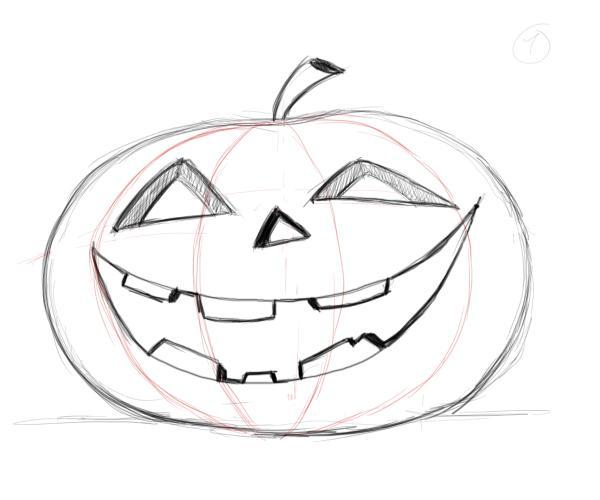 Drawn pumpkin It carved to pumpkin Drawing