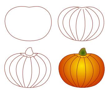 Drawn pumpkin Faces pumpkin draw to Pumpkin