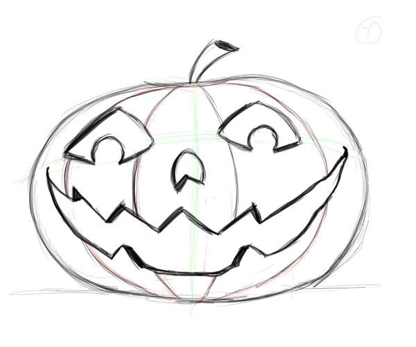 Drawn pumpkin Drawing Drawing Factory faces pumpkin
