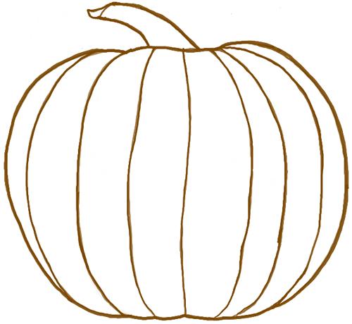 Drawn pumpkin Pumpkin (for a of in