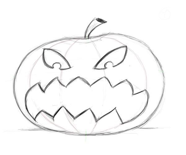 Drawn pumpkin Drawing – pumpkin faces Factory