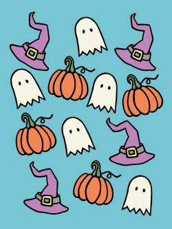 Drawn pumpkin animated Gremlins gif ink drawing design