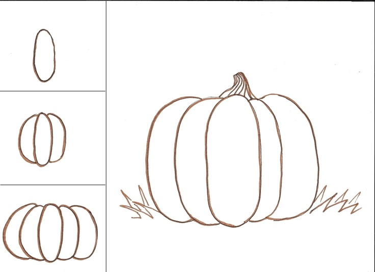 Drawn pumpkin asymmetrical Pumpkins Art Pumpkin art class