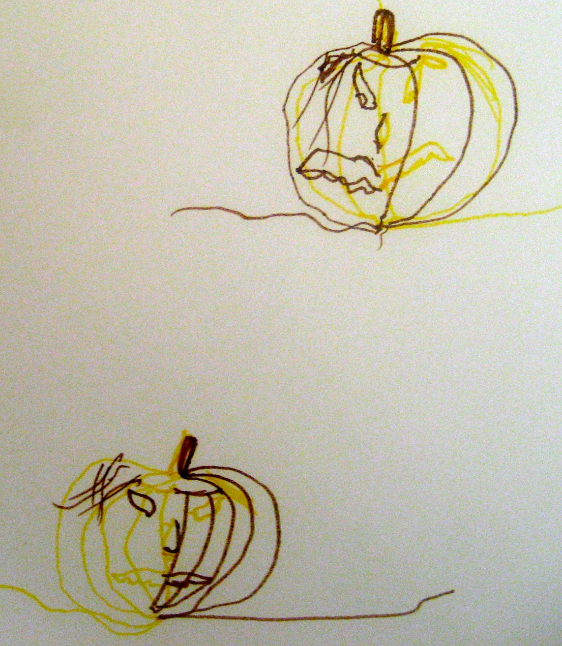 Drawn pumpkin asymmetrical An Doodle A Make Double