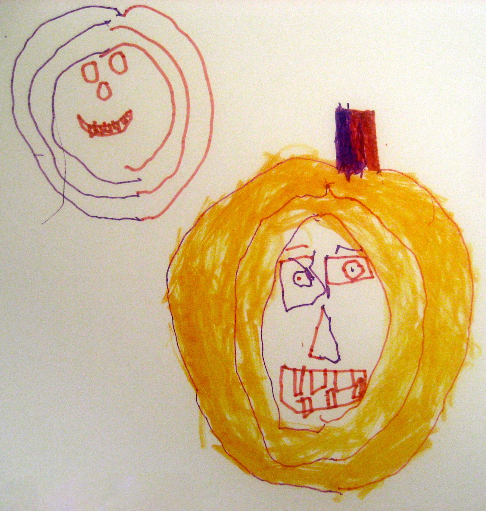 Drawn pumpkin asymmetrical Another Double Play Here 6