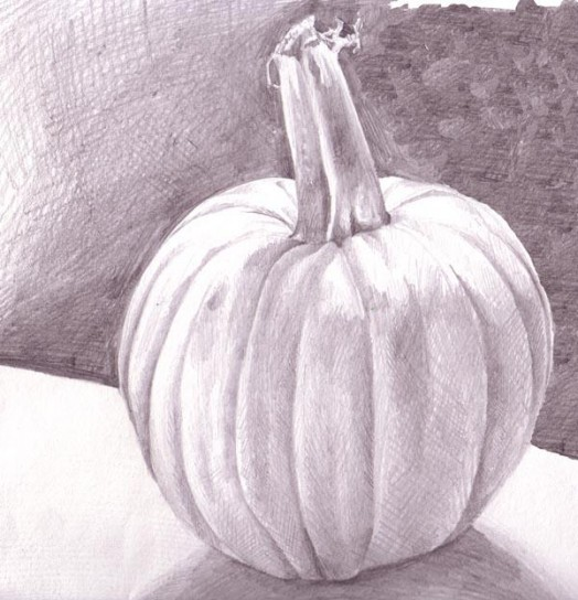 Drawn pumpkin bad Drawing Practice That value drawing