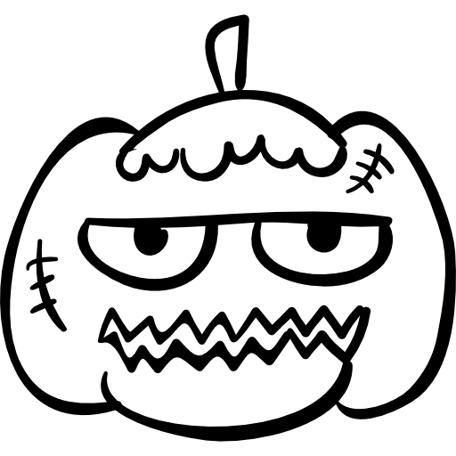 Drawn pumpkin bad Pumpkin Face PNG scary halloween