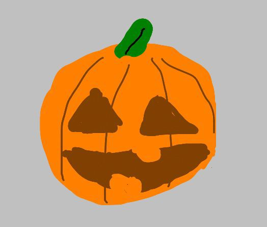 Drawn pumpkin bad Pumpkin Pumpkin sprignaturemoves