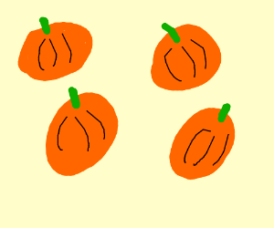 Drawn pumpkin bad (drawing Drawing pumpkin rain is