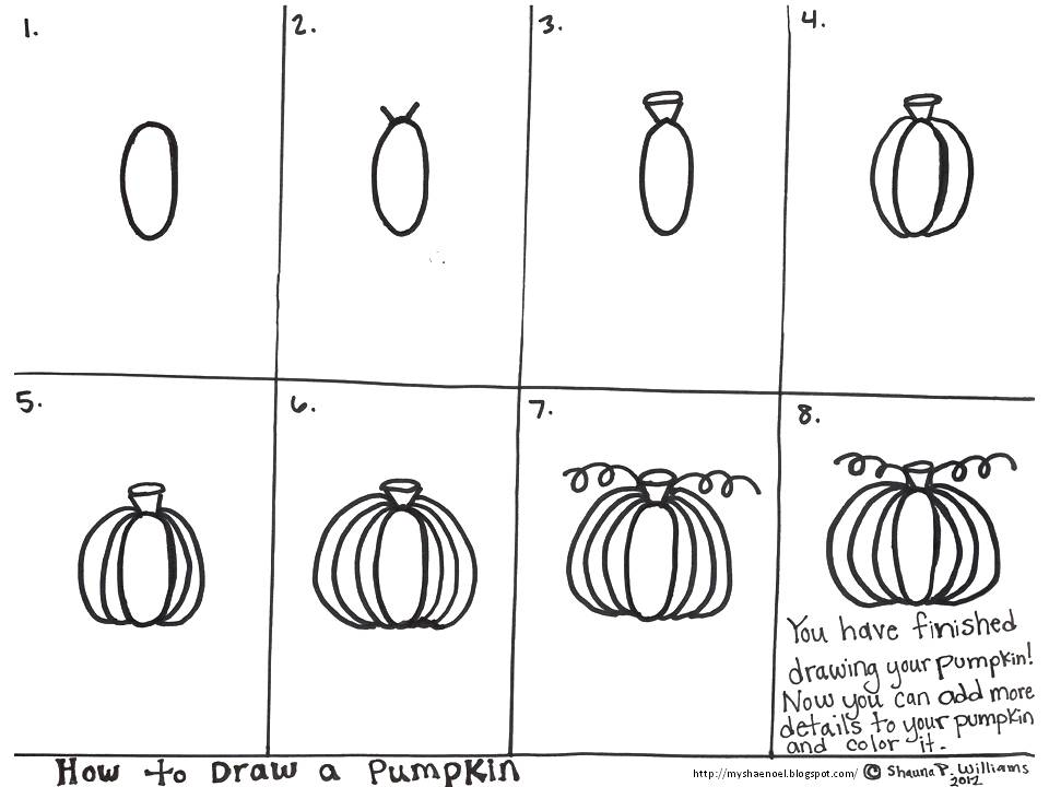 Drawn pumpkin blank My to and some first