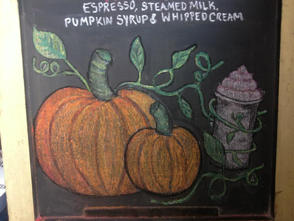 Drawn pumpkin chalk Art Art on by OptimisticallyGreen