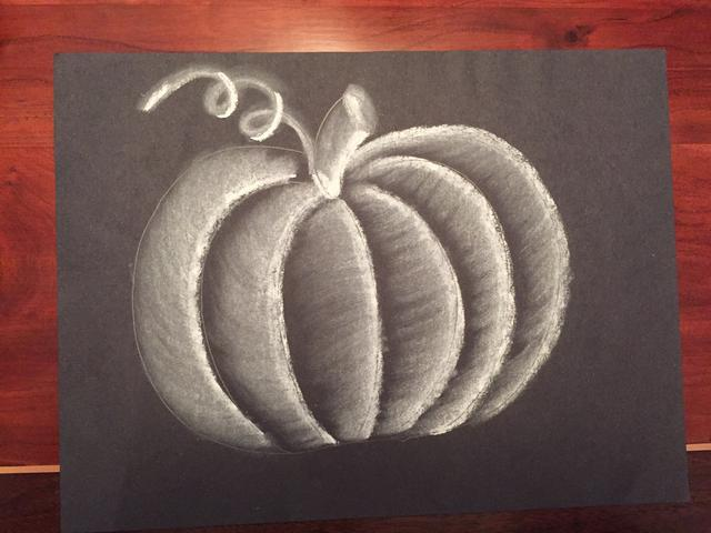 Drawn pumpkin chalk A Snapguide How a Pumpkin
